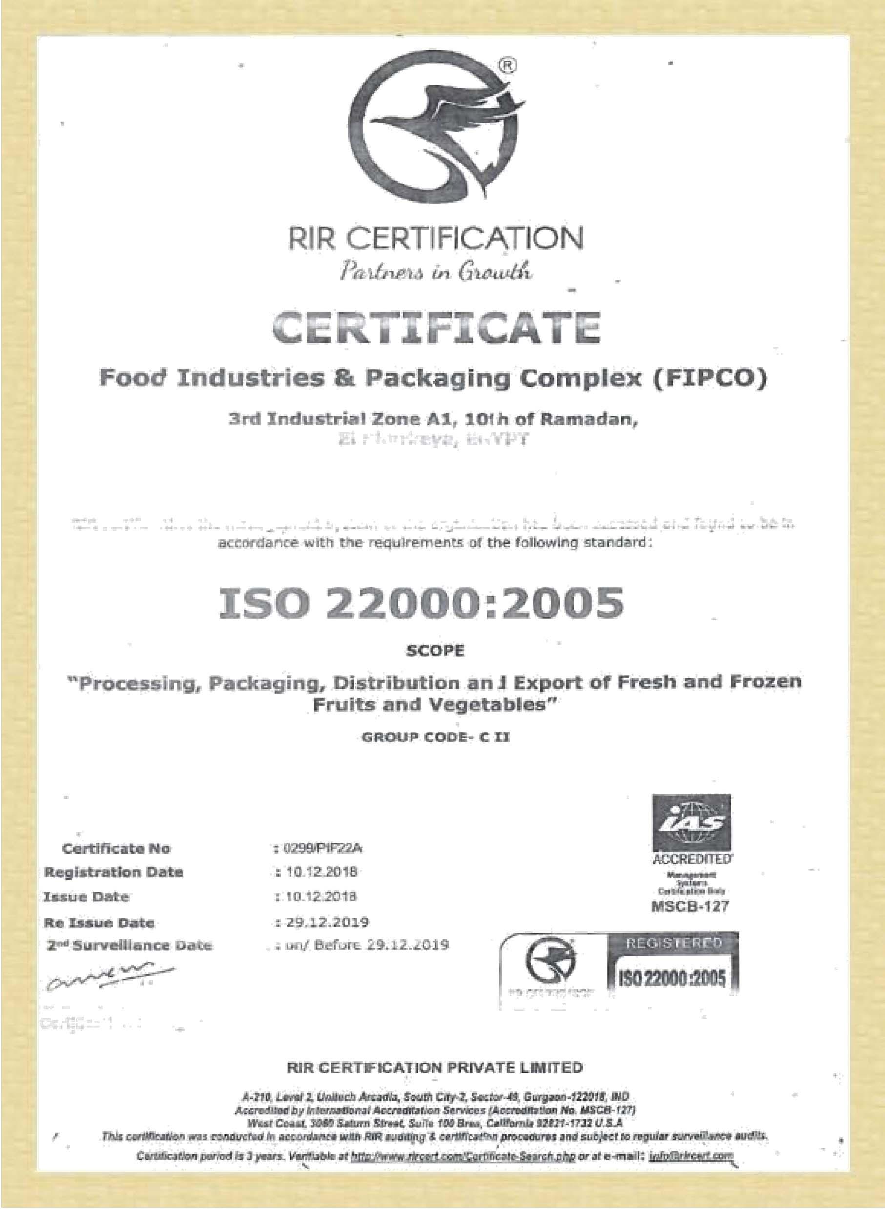 CERTIFICATES ISO-1
