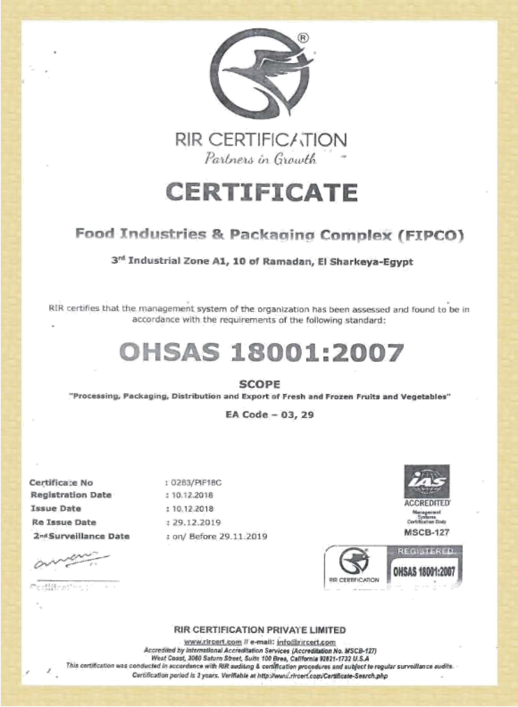 CERTIFICATES ISO-2