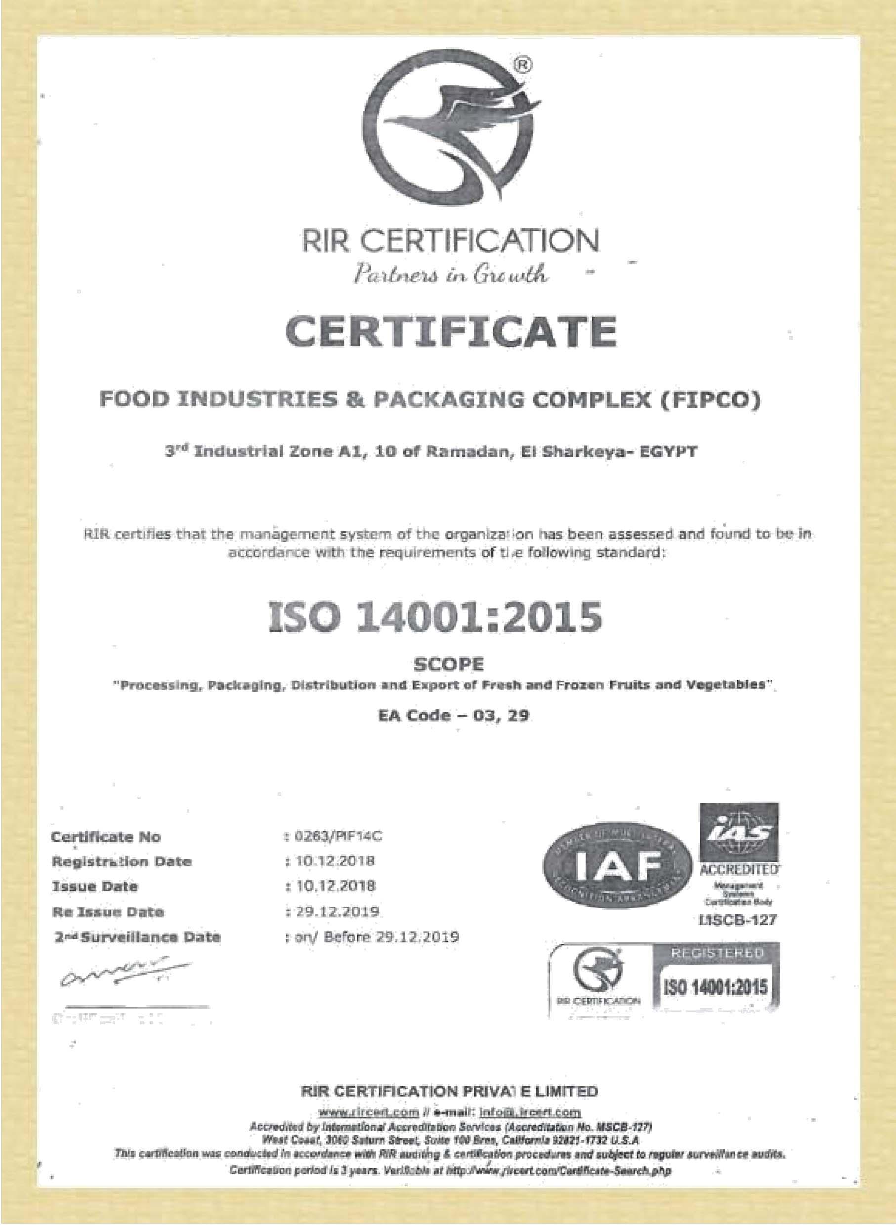 CERTIFICATES ISO-4